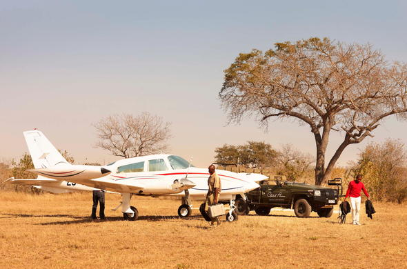 Travel to Cheetah Plains via private air transfers.