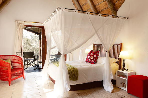 Luxury Bedroom accommodation offered at Cheetah Plains.