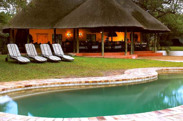 Relax around the Jackalberry Safari Lodge swimming pool.