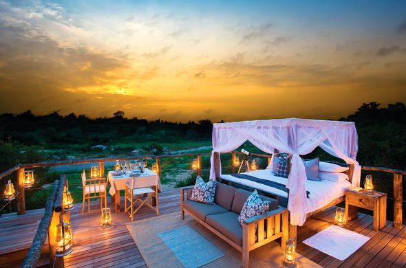 Go on a romantic sleep-out in Lion Sands.