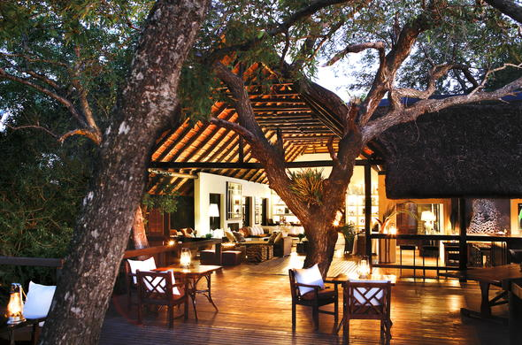 Londolozi Tree Camp deck.